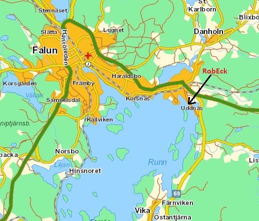 karta falun Karta till RobEck i Falun karta falun